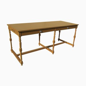 Oak Work Table from Bruno Saint Hilaire, 1990s
