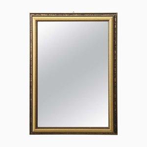 Specchio da parete vintage in legno dorato, anni '80