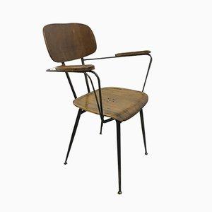 Industrieller italienischer Vintage Schreibtischstuhl, 1960er