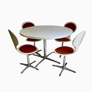 Mid-Century German Dining Table & Chairs Set by Benze, Set of 5