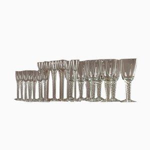Bicchieri Twist vintage di Holmegaard, Danimarca, anni '60, set di 24