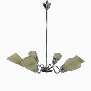 Lámpara de araña grande de Instala Decin para Instala, años 60