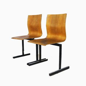 Danish Stackable Dining Chair by Niels Larsen, 1970s