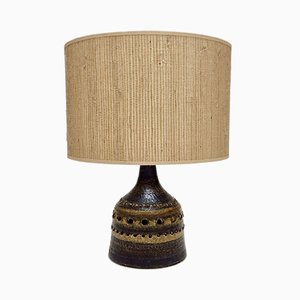 French Ceramic Table Lamp from Georges Pelletier, 1970s