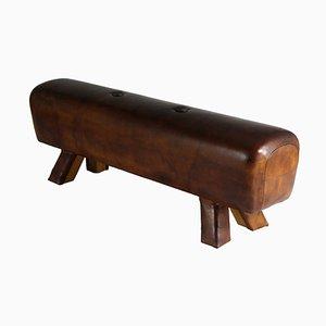 Caballo con arcos vintage de cuero, años 30