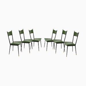 Esszimmerstühle von Colette Gueden für Atelier Primavera, 1950er, 6er Set