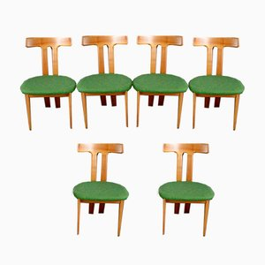 Scandinavian Sculptural Dining Chairs, 1960s, Set of 6