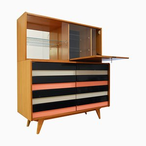 Model U-453 Dresser with Bar by Jiří Jiroutek for Interier Praha, 1960s