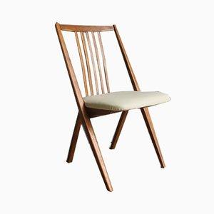Chaise de Bureau Scandinave en Bois de Pin, années 40