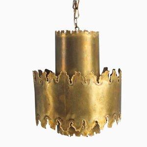 Lámpara de araña de latón de Svend Aage Holm Sørensen, años 70