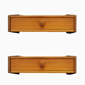 Teak Wall Shelves from Ølholm Møbelfabrik, 1970s, Set of 2