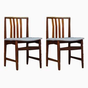 Chaises de Salle à Manger en Teck, années 60, Set de 2