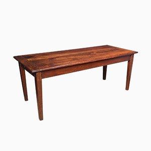 Mesa de comedor de granja de madera de frutal antigua