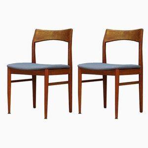 Chaises de Salle à Manger en Teck par Henning Kjærnulf pour Vejle Mobelfabrik, années 60, Set de 2