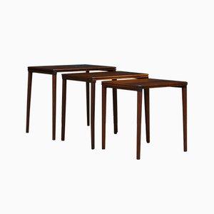 Tavolini ad incastro in palissandro, anni '70
