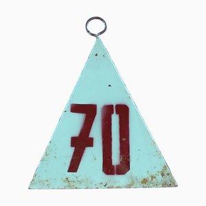 Pirámide vintage de metal, años 40