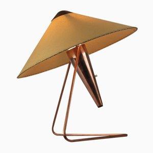 Lámpara de mesa vintage de cobre de Helena Frantova para Napako, años 50