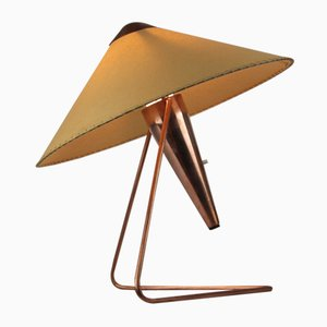 Vintage Copper Table Lamp by Helena Frantova for Napako, 1950s