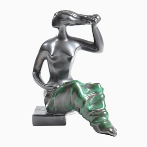 Metallic Glazed Ceramic Figurine from Keramia, 1960s