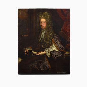 Antique Portrait of Sir Edward Longville from Sir Godfrey Kneller