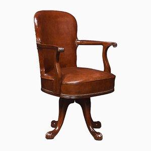 Antique Mahogany Swivel Chair