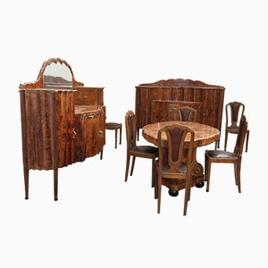 Art Deco Dining Room Set from Meroni & Fossati, 1930s