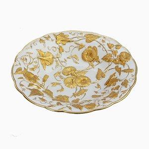 Plato decorativo modernista antiguo de porcelana de Meissen