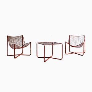 Set de Chaises et de Table de Salon Järpen par Niels Gammelgaard pour Ikea, années 80