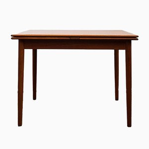 Small Mid-Century Teak Extendable Square Dining Table, 1960s