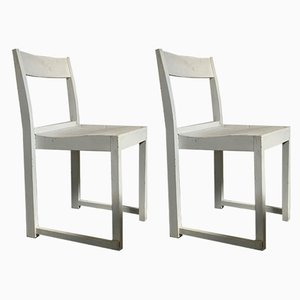Swedish White Stackable Side Chairs by Sven Markelius, 1930s, Set of 2