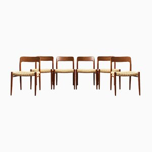 Mid-Century Danish Teak Dining Chairs by Niels Otto Møller for J.L. Møllers, 1960s, Set of 6