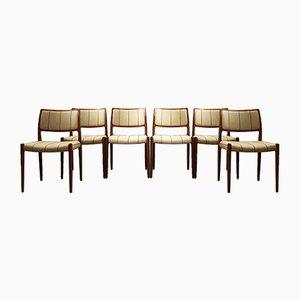 Dänische Mid-Century Esszimmerstühle aus Teak von Niels Otto Møller für J. L. Møllers, 1960er, 6er Set