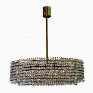 Große Modell Langenzersdorf Deckenlampe aus Kristallglas von Hans Harald Rath für Lobmeyr, 1960er