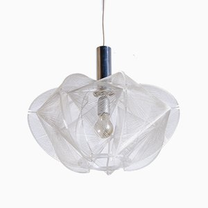 Lucite Pendant Lamp by Paul Secon for Sompex, 1960s