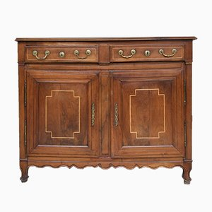 Antique Louis XV Style French Walnut Credenza, 1780s