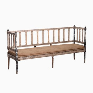 Antique Gustavian Bench