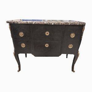Antique Louis XVI Marble and Copper Sideboard