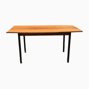 Mid-Century Italian Wood, Metal, and Brass Dining Table, 1960s
