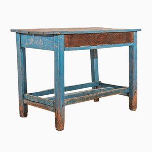 Rustic Blue Dining Table, 1930s