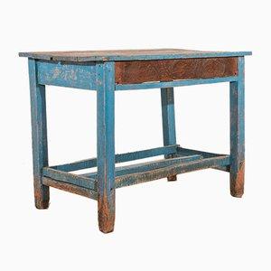 Rustikaler blauer Esstisch, 1930er