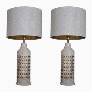 Lámparas de mesa grandes de cerámica de Bitossi para Bergboms, años 60. Juego de 2