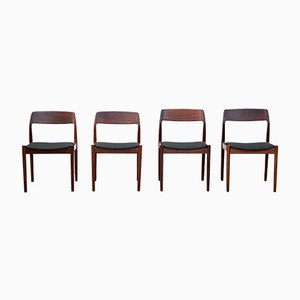 Rosewood Dining Chairs by Johannes Nørgaard, 1963, Set of 4