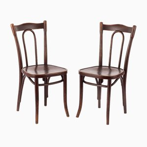 Vintage Bistro Chairs by Michael Thonet for Thonet, 1920s, Set of 2