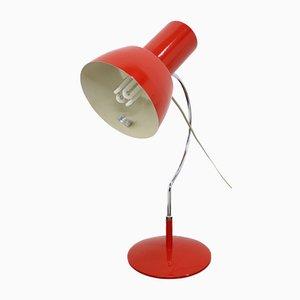 Lampe de Bureau Rouge Mid-Century de Napako, années 60