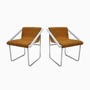 Chrome Lounge Chairs, 1960s, Set of 2