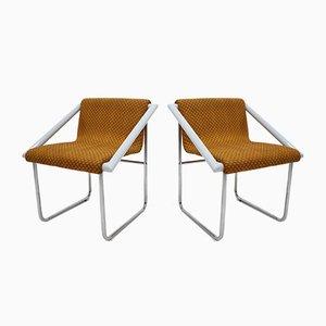 Sessel mit verchromtem Gestell, 1960er, 2er Set