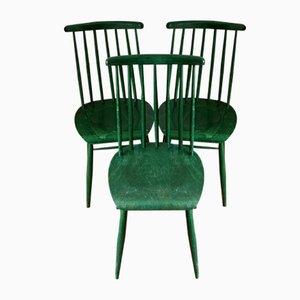 Chaises de Salle à Manger Mid-Century Scandinaves en Teck par Ilmari Tapiovaara pour Asko, années 60, Set de 3