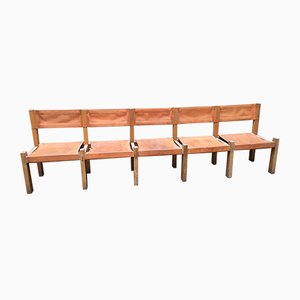Mid-Century Bench by Pierre Chapo, 1960s