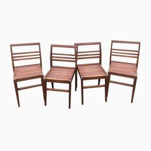 Chaises d'Appoint Vintage par René Gabriel, années 40, Set de 4