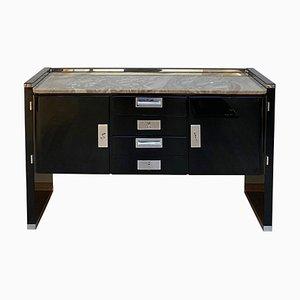 Bauhaus German Black Lacquer and Nickel Sideboard by Bruno Paul for VEB Deutsche Werkstätten Hellerau, 1920s